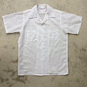 Vintage See-Through Casual Shirt